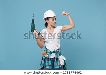 woman handling drill Stock photo © photography33