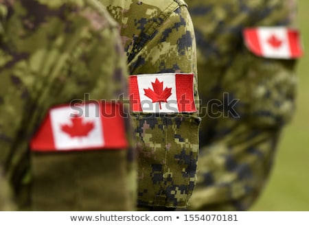 exército · Canadá · quadro · guerra · serviço · silhueta - foto stock © perysty