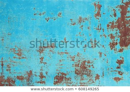 öreg festék acél fal felület szín Stock fotó © pzaxe