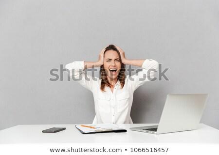 女性コンピュータ · ビジネス女性 · ピアス · コンピュータ - ストックフォト © smithore