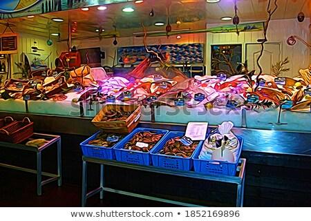 frutti · di · mare · mercato · Francia · alimentare · shell · riso - foto d'archivio © haraldmuc