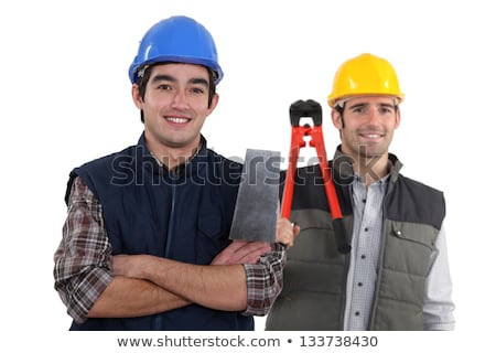 duo of craftsmen holding tools Stock photo © photography33