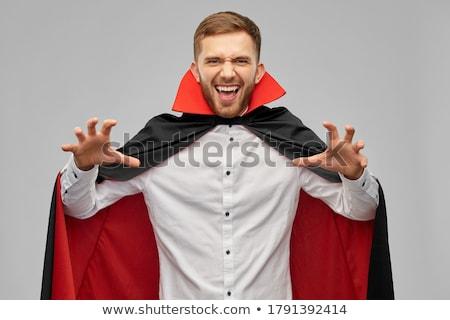 吸血鬼 ハロウィン 男 肖像 血液 喉が渇いた ストックフォト © Maridav
