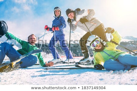 Little dressed in ski clothing Stock photo © photography33