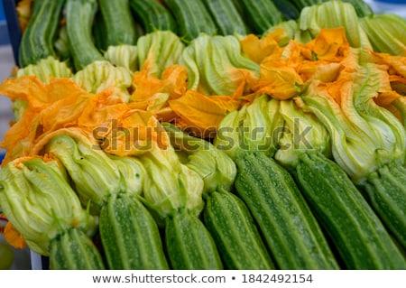 fresco · abobrinha · isolado · branco · agricultura · vegetal - foto stock © vankad