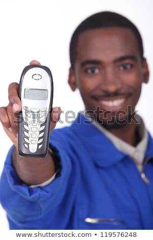 Technician showing landline phone Stock photo © photography33