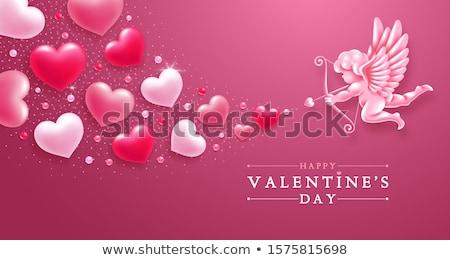kerub · valentin · nap · néz · baba · szexi · szépség - stock fotó © hauvi