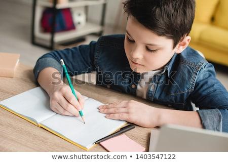 Dziecko praca domowa dziewczyna książek szkoły nauki Zdjęcia stock © photography33