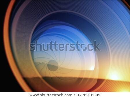 ストックフォト: 詳細 · 黒 · 技術 · 規模 · レンズ