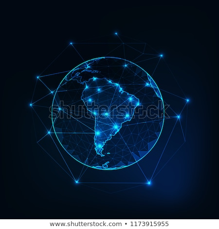 Południe ameryka Łacińska planety komunikacji świat Zdjęcia stock © fenton