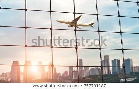 view of airport through window Stock photo © ssuaphoto