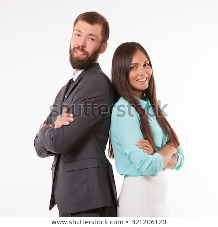 zakenvrouw · permanente · armen · gevouwen · portret - stockfoto © wavebreak_media