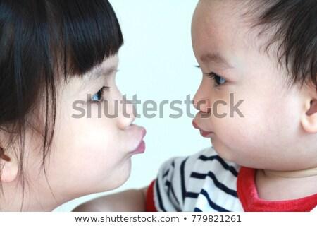 Siblings Looking Each Other Stock photo © ozgur