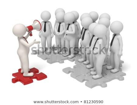 3d · pessoas · quebra-cabeça · 3d · render · pessoas · paz - foto stock © dacasdo