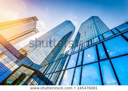 blue corporate building Stock photo © Akhilesh