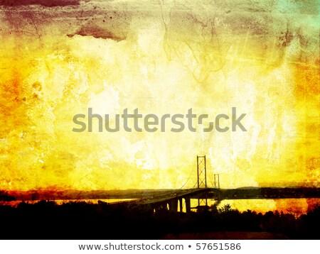 Foto stock: Estrada · ponte · sujo · Edimburgo · estilo · água