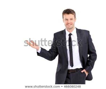 portret · geslaagd · volwassen · zakenman · glimlachend · exemplaar · ruimte - stockfoto © HASLOO