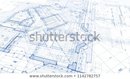 Concept blueprint on blue Stock photo © ixstudio