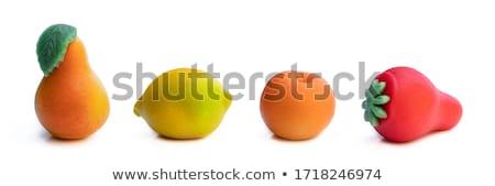 Variety of fruits on colorful marzipan Stock photo © lunamarina