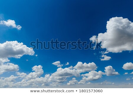 cumulus perfect sky with deep blue background  Stock photo © lunamarina