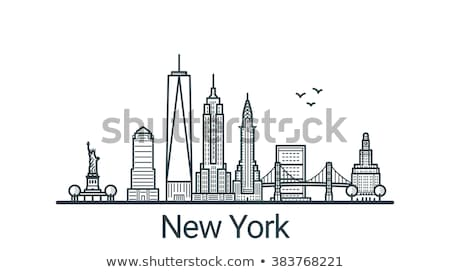 Photo stock: Détail · pont · Manhattan · New · York · City · USA · bâtiments