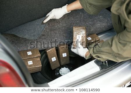 Drug auto recht politie drugs geweld Stockfoto © wellphoto