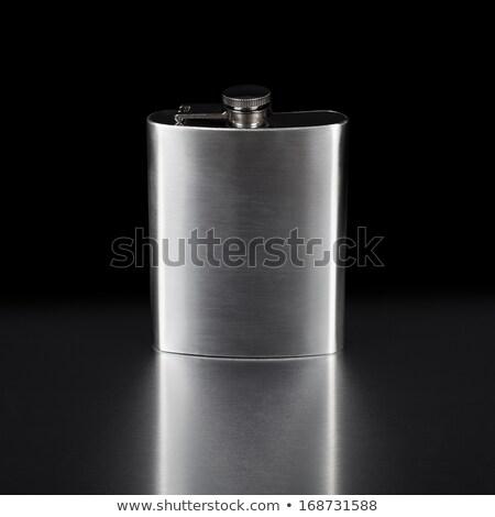 Cadera negro metal blanco alcohol Foto stock © pxhidalgo