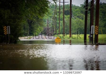 Tavasz áradás víz magas idő város Stock fotó © Escander81