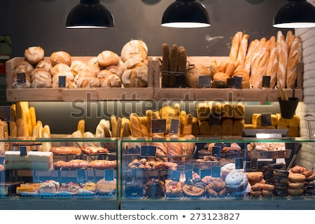 ekmek · durmak · fırın · gıda · pazar · kek - stok fotoğraf © Catuncia