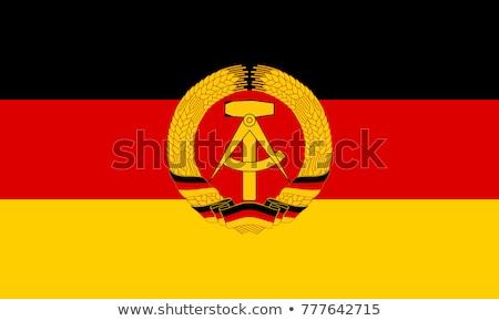 Bayrak demokratik cumhuriyet rüzgâr Stok fotoğraf © creisinger