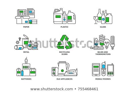 Abstract recycling vector set Stock photo © digitalmojito