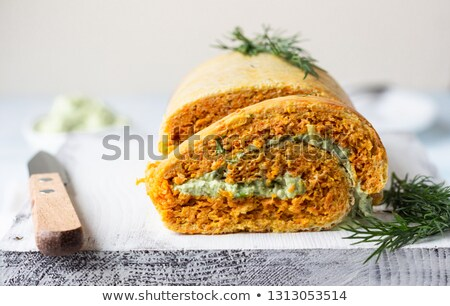 the cheese roulade stock photo © hanusst