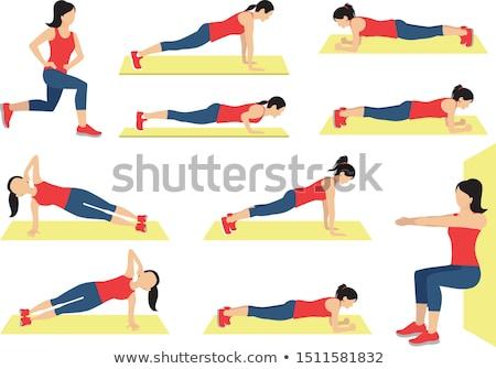 Fitness vrouw elleboog gelukkig sport Stockfoto © Rob_Stark