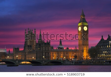 big ben during sunset london uk stock photo © stockyimages