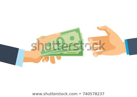 Online money funds, businessman giving money Stock photo © stevanovicigor