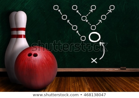 Coppia · bowling · palla · sorridere · uomo - foto d'archivio © jasminko