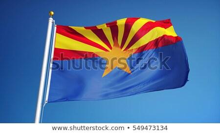 アリゾナ州 · フラグ · 風 · 青 · 旅行 - ストックフォト © shanemaritch