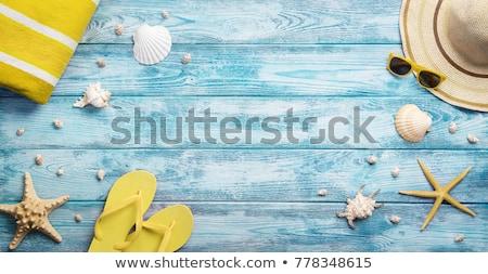 Tengerpart elemek nyár ünnepek copy space háttér Stock fotó © natika