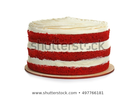 écrou · gâteau · isolé · blanche · chocolat · déjeuner - photo stock © natika