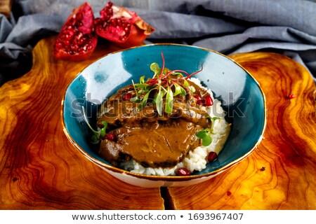 beef and mashed potato Stock photo © M-studio