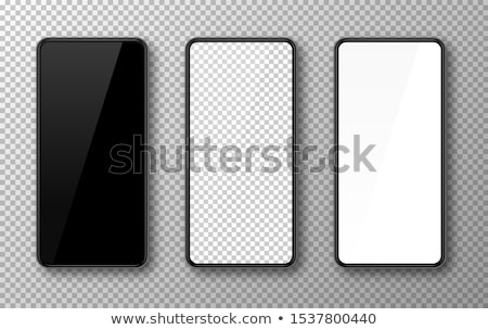 Black smart phone vector illustration isolated on white stock photo © MPFphotography