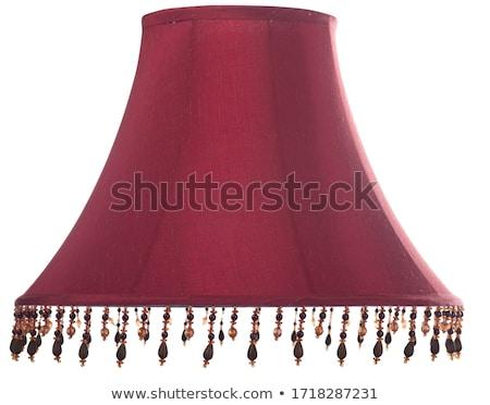 Red beads isolated on white background Stock photo © natika