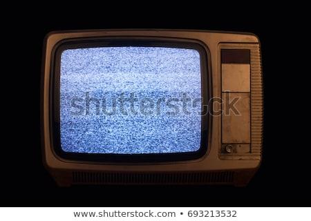 Tv göstermek ekran yalıtılmış beyaz bilgisayar Stok fotoğraf © karandaev