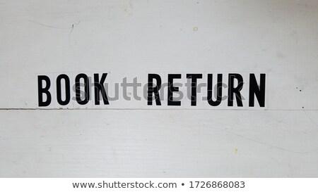 Biblioteca livro voltar caixa metal assinar Foto stock © PixelsAway
