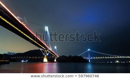 Hong Kong, Ting Kau Bridge at night Stock photo © leungchopan