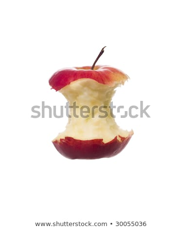 Half eaten apple towards white background Stock photo © gemenacom