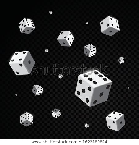 下がり · 赤 · 白 · 3dのレンダリング · サイコロ · ギャンブル - ストックフォト © gemenacom