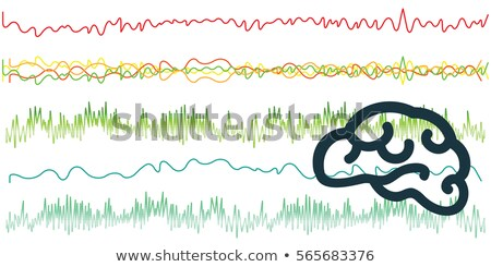Hullámok agyi illusztráció háttér tudomány sziluett Stock fotó © adrenalina
