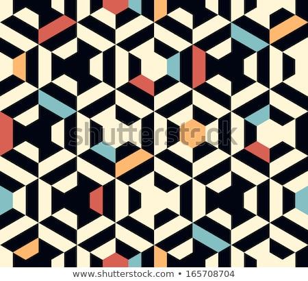 Seamless geometric pattern red color stock photo © aliaksandra
