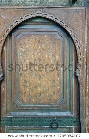 Eski giriş kemer içinde eski ev mavi Stok fotoğraf © eleaner